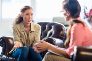 Individual counseling-young woman explaining